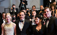 Joaquin Phoenix &amp; Lynne Ramsay, Ekaterina Samsonov, Alex Manette at the premiere of 'You Were Never Really Here' at the 70th Festival de Cannes.<br /> May 27, 2017  Cannes, France<br /> Picture: Kristina Afanasyeva / Featureflash