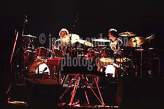 Bill Kreutzmann & Mickey Hart. The Grateful Dead Performing at Shea's Buffalo Theater, New York 20 January 1979<br /> Contact Photographer for High Resolution File if purchasing Rights Managed Usage.