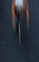 07 JUL 2012 - PARIS, FRA - A competitor on the bike during the elite men's French Grand Prix round of the 2012 Triathlon de Paris around Pont d'Lena, Paris, France (PHOTO (C) 2012 NIGEL FARROW)
