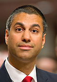 Ajit Varadaraj Pai testifies before the United States Senate Committee on Commerce, Science, and Transportation on his nomination to be a Member of the Federal Communications Commission on Capitol Hill in Washington, DC on Wednesday, July 19, 2017.<br /> Credit: Ron Sachs / CNP