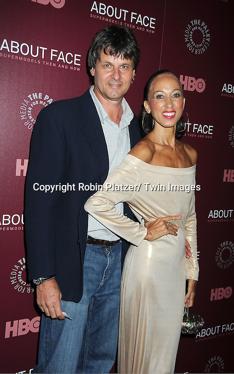 """model Pat Cleveland and husband Paul Von Ravenstein attends the New York Premiere of  HBO's """"About Face: Supermodels Then and Now"""" on July 17, 2012 at The Paley Center for Media in New York City. This was filmed by Timothy Greenield-Sanders."""