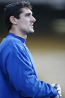 Carl Pavano of the Montreal Expos before a 2002 MLB season game  against the Los Angeles Dodgers at Dodger Stadium, in Los Angeles, California. (Larry Goren/Four Seam Images)