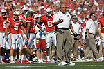 MADISON, WI - SEPTEMBER 11: Head coach Barry Alvarez of the University of Wisconsin Badgers during the game against the University of Nevada-Las Vegas on September 11, 2004 at Camp Randall Stadium in Madison, Wisconsin. The Badgers beat the Rebels 18-3. (Photo by David Stluka)