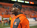 CLEVELAND, OH - AUGUST 18, 2016: Wide receiver Josh Gordon #12 of the Cleveland Browns walks off the field after a preseason game on August 18, 2016 against the Atlanta Falcons at FirstEnergy Stadium in Cleveland, Ohio. Atlanta won 24-13. (Photo by: 2016 Nick Cammett/Diamond Images) *** Local Caption *** Josh Gordon
