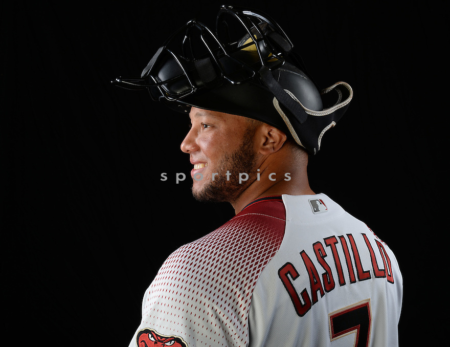Arizona Diamondbacks Welington Castillo (7) during photo day on February 28, 2016 in Scottsdale, AZ.