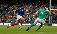 Sunday10th March 2019 | Ireland vs France<br /> <br /> Mathieu Bastareaud on the attack during the Guinness 6 Nations clash between Ireland and France at the Aviva Stadium, Lansdowne Road, Dublin, Ireland. Photo by John Dickson / DICKSONDIGITAL