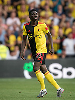 Ismaïla Sarr of Watford during the Premier League match between Watford and Arsenal at Vicarage Road, Watford, England on 16 September 2019. Photo by Andy Rowland.