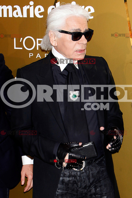 Karl Lagerfeld attend Marie Claire Prix de la Moda awards 2012 at French Embassy in Madrid. November 22, 2012. (ALTERPHOTOS/Caro Marin) /NortePhoto