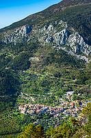 Frankreich, Provence-Alpes-Côte d'Azur, Gorbio: Bergdorf (Village Perché) zwischen Roquebrune und Menton in den franzoesichen Seealpen, abseits der Touristenstroeme | France, Provence-Alpes-Côte d'Azur, Gorbio: mountain village (Village Perché) between Roquebrune and Menton in the French Maritime Alps