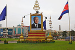 Poster of Former King Norodom Sihanouk