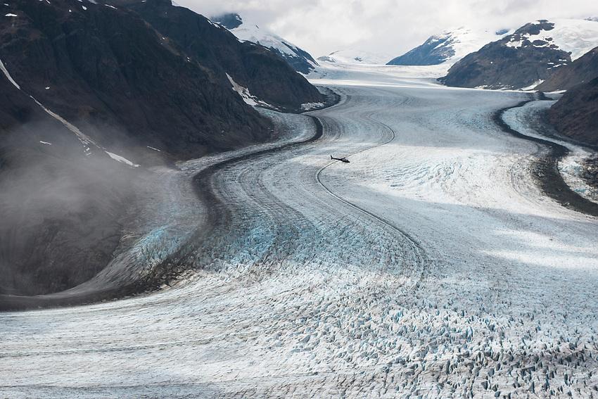 Salmon Glacier. The fifth largest glacier in North America. On the B.C. Alaska border. B.C., 2017.