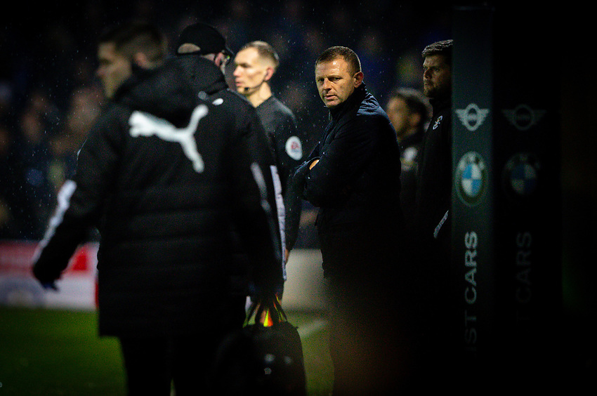 Luton Town manager Graeme Jones watches on<br /> <br /> Photographer Alex Dodd/CameraSport<br /> <br /> The EFL Sky Bet Championship - 191123 Luton Town v Leeds United - Saturday 23rd November 2019 - Kenilworth Road - Luton<br /> <br /> World Copyright © 2019 CameraSport. All rights reserved. 43 Linden Ave. Countesthorpe. Leicester. England. LE8 5PG - Tel: +44 (0) 116 277 4147 - admin@camerasport.com - www.camerasport.com
