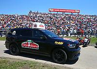 May 21, 2017; Topeka, KS, USA; Tow vehicle for NHRA top fuel driver Leah Pritchett during the Heartland Nationals at Heartland Park Topeka. Mandatory Credit: Mark J. Rebilas-USA TODAY Sports