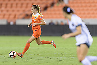 Houston, TX - Saturday July 08, 2017: Cami Privett brings the ball up the field during a regular season National Women's Soccer League (NWSL) match between the Houston Dash and the Portland Thorns FC at BBVA Compass Stadium.
