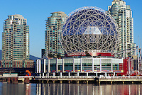 Vancouver, BC, British Columbia, Canada - Telus World of Science (aka Science World) at False Creek - Renovation at Science World completed in 2012.