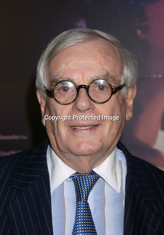 "Dominick Dunne..at The New York Premiere of ""Phantom of the Opera"" on ..December 12, 2004 at the Ziegfeld Theatre. ..Photo by Robin Platzer, Twin Images"