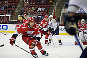 Hurricanes on the defense at the RBC Center in Raleigh.