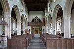 Inside village parish church of Saint Julian, Wellow, Somerset, England, UK