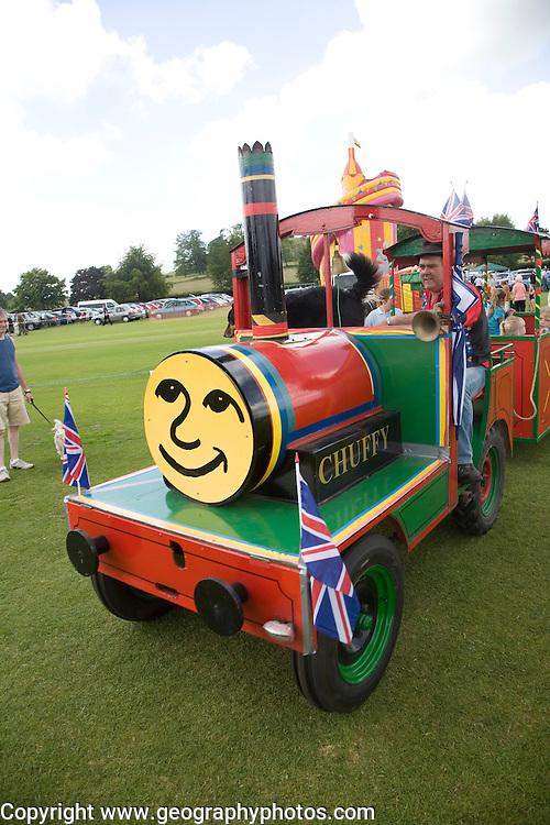 Toy train ride for children