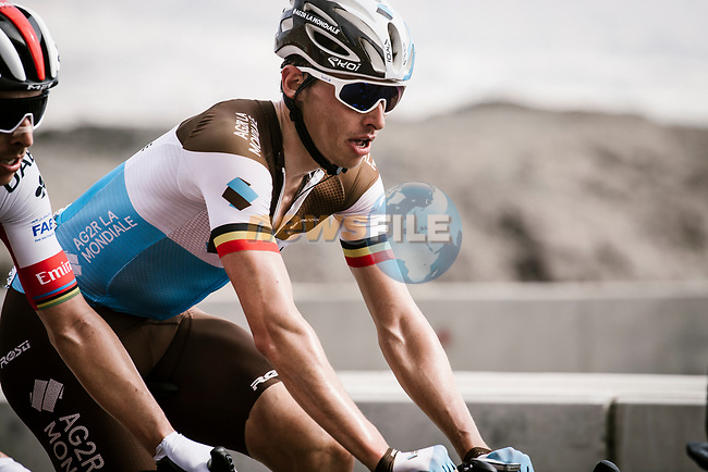 Oliver Naesen (BEL) AG2R La Mondial climbing during Stage 4 of 10th Tour of Oman 2019, running 131km from Yiti (Al Sifah) to Oman Convention and Exhibition Centre, Oman. 19th February 2019.<br /> Picture: ASO/P. Ballet   Cyclefile<br /> All photos usage must carry mandatory copyright credit (© Cyclefile   ASO/P. Ballet)