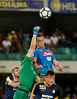 Arkadiusz Milik 1 during the  italian serie A soccer match,between Hellas Verona and SSC Napoli  at  the Bentegodi    stadium in Verona  Italy , August 19, 2017