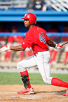 August 2, 2009:  Outfielder Zach Collier of the Williamsport Crosscutters during a game at Dwyer Stadium in Batavia, NY.  Williamsport is the Short-Season Class-A affiliate of the Philadelphia Phillies.  Photo By Mike Janes/Four Seam Images