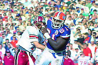 Ellis Johnson (61), University of Florida Gators defeat the University of South Carolina Gamecocks 48-17 at Ben Hill Griffin Stadium, Florida Field, Gainseville, Florida, November 12, 1994 . (Photo by Brian Cleary/www.bcpix.com)