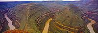 Entrenched River Meanders, San Juan River Goosenecks,  Goosenecks State Reserve, Utah