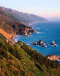 Sunset, Big Sur Coastline on Highway 1, Central Coast of California