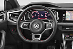 Car pictures of steering wheel view of a 2018 Volkswagen Polo GTI 5 Door Hatchback