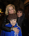 "Joe West, son of Maura West - As The World Turns' ""Carly"" and Young and Restless, makes his Broadway Debut as ""Ralphie"" in A Christmas Story The Musical and poses with his mom Maura and ATWT Colleen Zenk as they went to see the musical on November 21, 2012 at the Lunt-Fontaine Theatre, New York City, New York. Note photographer Sue saw the musical and thought Joe and the show was great.  (Photo by Sue Coflin/Max Photos)"