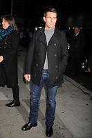 Tom Cruise en el Teatro Ed Sullivan para una aparición en Late Show con David Letterman en New York City. *December*19*2011. <br /> (credito*foto*©mpi/MediaPunch/NortePhoto*)