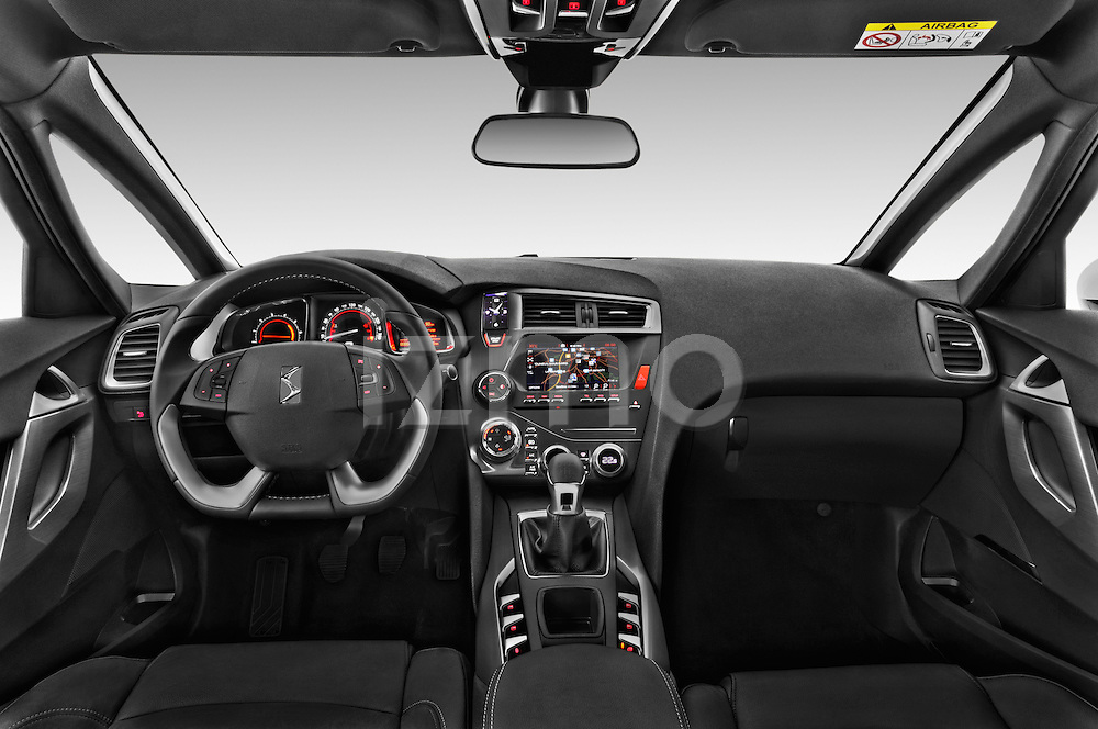 Stock photo of straight dashboard view of 2016 Citroen DS5 Sport Chic 5 Door Hatchback Dashboard