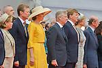 Ceremony of the bicentenary of the Battle of Waterloo. Waterloo, 18 june 2015, Belgium<br /> Pics: Grand Duke Henri of Luxembourg , King Philippe of Belgium, Queen Mathilde of Belgium, King Willem-Alexander of the Netherlands , Queen Maxima of the Netherlands