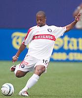 Andy Williams of the Fire. The Chicago Fire defeated the NY/NJ MetroStars 3-2 on 6/14/03 at Giant's Stadium, NJ..