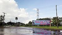 HAVANA, CUBA - 16.10.2016 - Outdoor em avenida de Havana, em exaltação à revolução cubana. (Foto: Bete Marques/Brazil Photo Press)