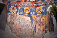 Second half of the twelfth Century Romanesque frescoes of the Apse d'Esterri de Cardos. The church of Sant Pau d'Estirri de Cardos, Spain. National Art Museum of Catalonia, Barcelona. MNAC 15970