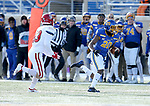 BROOKINGS, SD - NOVEMBER 17: Pierre Strong, Jr. #20 from South Dakota State University breaks loose for a 73 yard touchdown past Jonathan Joanis #23 from the University of South Dakota during their game Saturday afternoon at Dana J. Dykhouse Stadium in Brookings, SD. (Photo by Dave Eggen/Inertia)