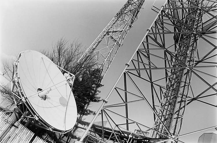 NBC News satellites in March 1992. (Photo by Laura Patterson/CQ Roll Call via Getty Images)