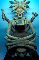 A Mayan censer or incensario in the Museo Regional de Chiapas, a regional archaeological museum in Tuxtla Gutierrez, Chiapas, Mexico