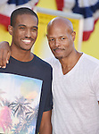 WESTWOOD, CA - AUGUST 09: Actor Keenan Wayans (R) and son Keenan Wayans, Jr. arrive at the Premiere Of Sony's 'Sausage Party' at Regency Village Theatre on August 9, 2016 in Westwood, California.