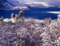 Eilean Donan Castle in winter, Scotland, United Kingdom
