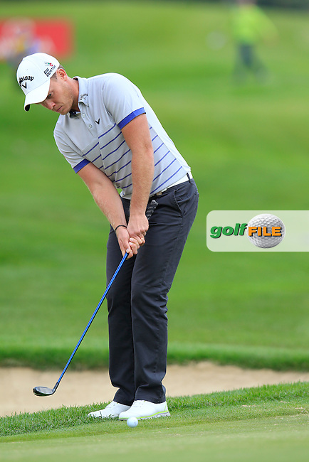 Danny WILLETT (ENG) at the 1st green during Thursday's Round 1 of the 2014 Omega European Masters held at the Crans Montana Golf Club, Crans-sur-Sierre, Switzerland.: Picture Eoin Clarke, www.golffile.ie: 4th September 2014