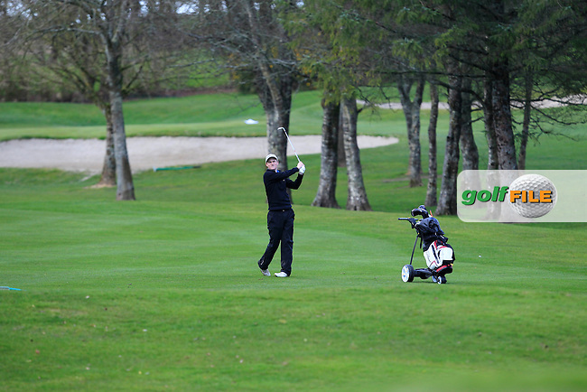 Peter Kerr (Royal Portrush) on the 12th during Round 1 of the Munster Youths' Amateur Open Championship at Monkstown Golf Club on Wednesday 30th March 2016.<br /> Picture:  Golffile / Thos Caffrey