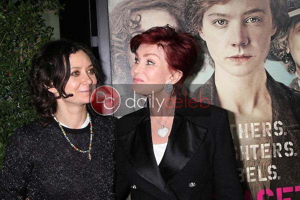 "Sharon Osbourne, Sara Gilbert<br /> at the ""Suffragette"" Premiere, Samuel Goldwyn Theater, Beverly Hills, CA 10-20-15<br /> David Edwards/DailyCeleb.Com 818-249-4998"