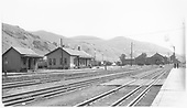 D&amp;RGW Salida yard scene with little activity.<br /> D&amp;RGW  Salida, CO  Taken by Darrell, Paul - 8/1939