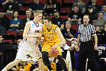 Northern Iowa Seth Tuttle guards Wyoming's larry Nance (22) 2015 NCAA Division I Men's Basketball Championship March 20, 2015 at the Key Arena in Seattle, Washington.   Northern Iowa beat Wyoming 71 to 54.   ©2015.  Jim Bryant Photo. All Rights Reserved.  Northern Iowa beat Wyoming 71 to 54.   ©2015.  Jim Bryant Photo. All Rights Reserved.