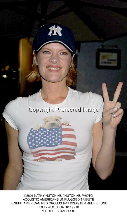 ©2001 KATHY HUTCHINS / HUTCHINS PHOTO.ACOUSTIC AMERICANS UNPLUGGED TRIBUTE.BENEFIT AMERICAN RED CROSSS 9-11 DISASTER RELIFE FUND.HOLLYWOOD, CA  10 / 9 / 01.MICHELLE STAFFORD
