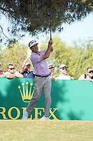 Gonzalo Fdez-Castano (ESP) on the 9th, round 2 of the Portugal Masters, Dom Pedro Victoria Golf Course, Vilamoura, Vilamoura, Portugal. 25/10/2019<br />
