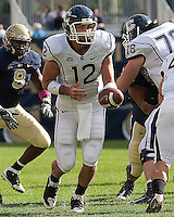 UConn quarterback Cody Endres. Pittsburgh Panthers defeat the University of Connecticut Huskies 24-21 on October 10, 2009 at Heinz Field, Pittsburgh, PA.
